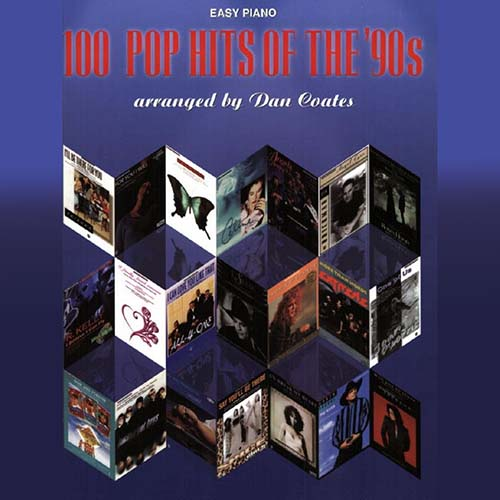 100 Pop Hits Of The '90s. Songbook with easy piano notation
