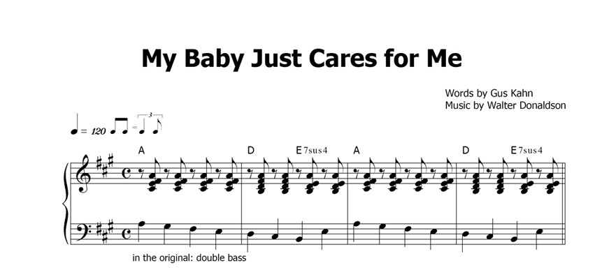 My Baby Just Cares for Me Sheet Music