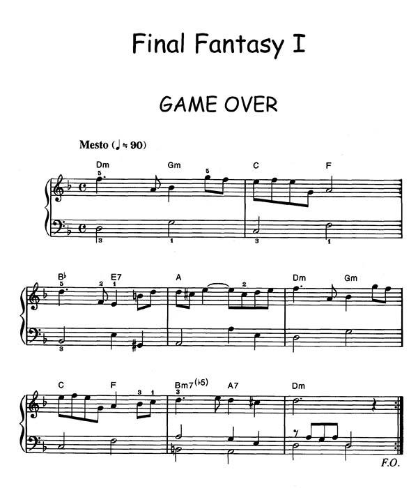 Final Fantasy I Game Over