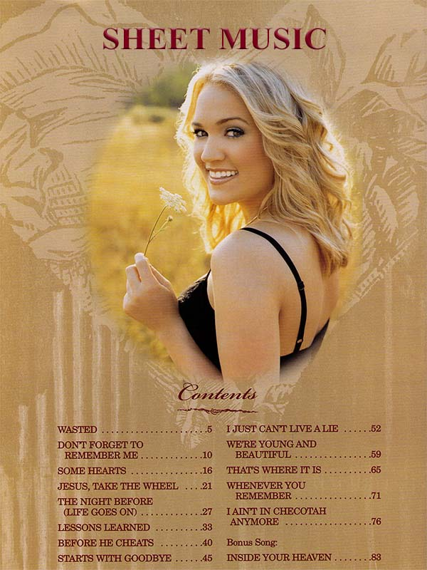 Carrie Underwood Some Hearts Songbook Content