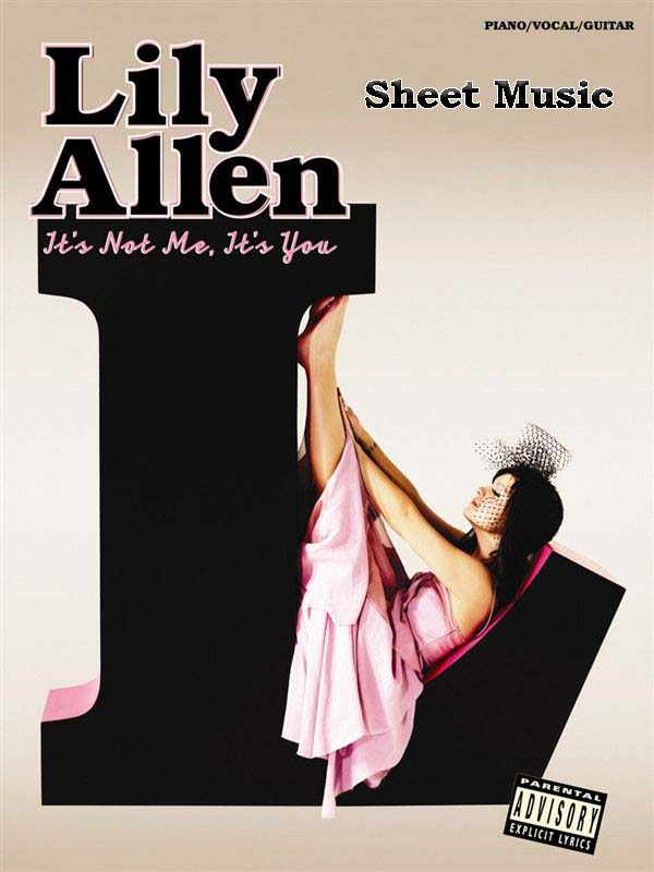 "Lily Allen ""It's Not Me, It's You"" songbook for piano and vocal with guitar chord"